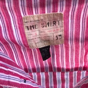 The Shirt by Rochelle Behrens Tops - Striped button down shirt
